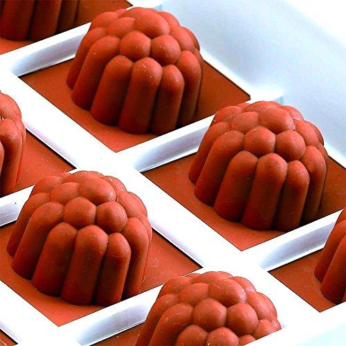 Martellato Berry Moule à gelée en Silicone, Marron, 18x 33.5cm