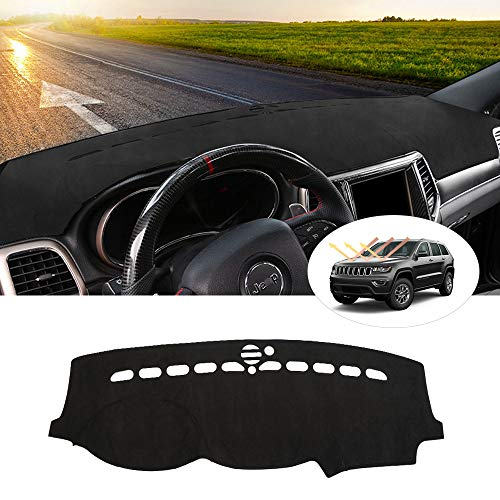 Cartist Suede Dash Mat for Jeep Grand Cherokee 2011-2020 (NOT for Jeep Cherokee) Dash Cover Nonslip Dashboard Mat Protector Sunshade No Glare