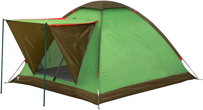 IDWOI Kuppelzelt Zelt Campingzelt Regendicht Leichte Familienzelt Outdoor Wandern Winddicht 2-3 Personen Kuppelzelt, Grün