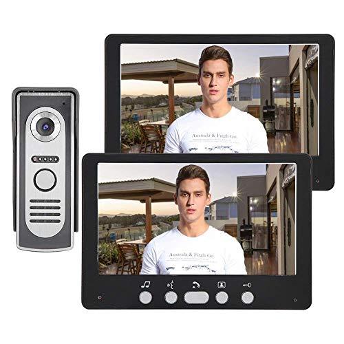 ZCZZ Videoportero, HD 7 Pulgadas TFT Monitor Cable Timbre, Intercomunicador e Infrarrojos Nocturnos para Villas, Apartamentos, Residencias, Hoteles, Edificios de Oficinas (Enchufe del Reino Unido