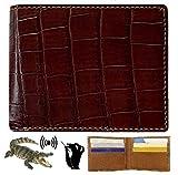 HATA Men Alligator Crocodile Bifold Wallet Handmade Belly RFID Blocking VINAM-89