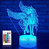 JMLLYCO Unicorn Gifts Night Lights for Girls Unicorn Toys 16 Colors Change with...