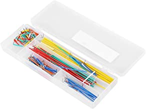 BiuZi 140 Pcs Jumper Wire Kit 14 Lengths Assorted Preformed Breadboard Jumper Wires with Storage Box