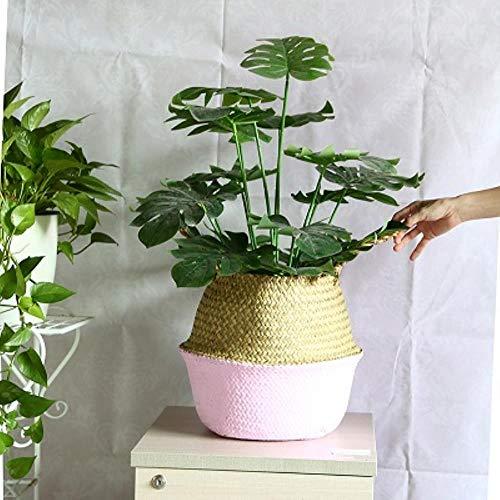 WYCYZJ Maceta de jardinería de Flores, Cesta de Mimbre, Ces