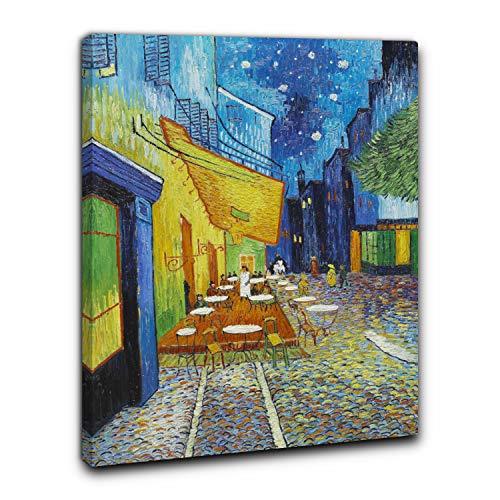 Niik Cuadro + marco (BC) Vincent Van Gogh 60 x 45 x 1,7 cm Terraza del café La Sera Place du Forum Arles Falso de autor Impresión sobre lienzo