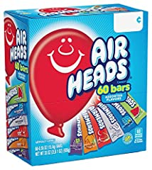 Unwrap the fun and play delicious with a box full of only your favorite Airheads flavor Perfect treat size and easy to share. Stock up your pantry or use Airheads bulk candy for holidays, event party favors, office treats, concession stands, kids par...