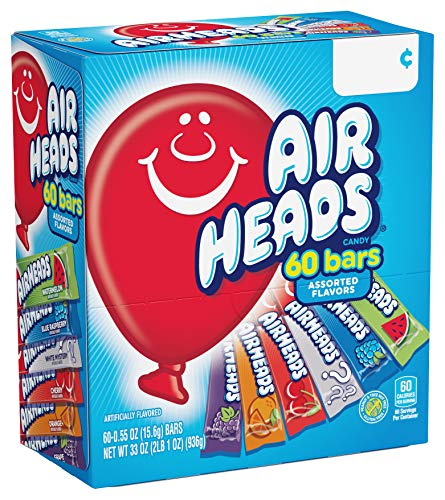 Airheads Candy Bars, Variety Halloween Bulk Box, 90 Count Now $7.14 (Was $10.98)