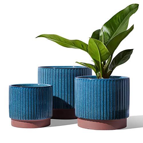 Ceramic Planter with Drainage Holes, set of 3