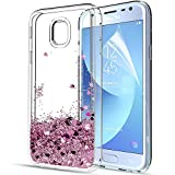 LeYi Galaxy J3 2017 Case with Screen Protector, Girl Women