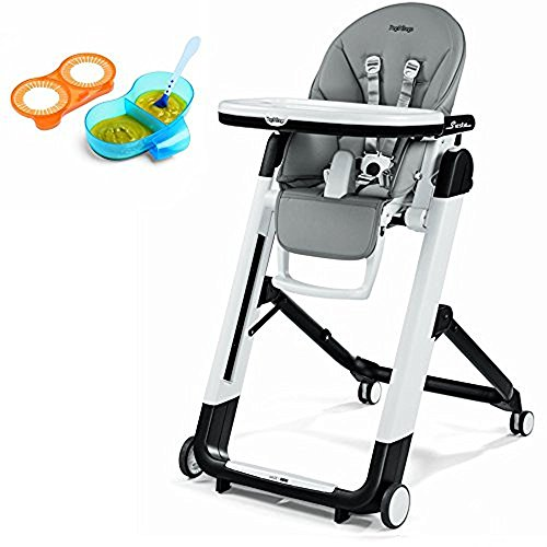 Peg Perego Siesta, Ice Grey & Divided Feeding Bowl