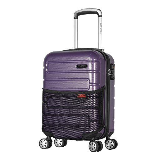 Olympia Nema 18' Carry-on Underseater Spinner W/TSA Lock, Purple