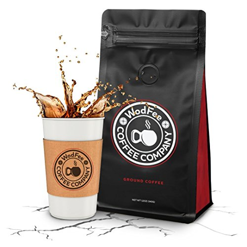 WodFee Coffee Company   Fran-ETIC Blend   Worlds Strongest Ground Coffee with Added Caffeine & Keto Friendly   Very Potent Formula   12 oz Bag