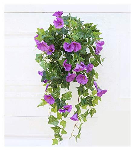 Gzjdtkj Künstliche Blumen 65.5cm Künstliche Seide Morgen Glory Gefälschte Blume Hohe Qualität für Hochzeit Home Party DIY Tischdekoration Bulk 1 stücke (Color : Purple)
