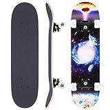WeSkate Skateboard Complete Board 79x20cm Tablero de Madera con rodamientos de Bolas ABEC-11 Madera de Arce Canadiense de 31 Pulgadas y 7 Capas y Ruedas 85A para Adultos, Adolescentes y niños