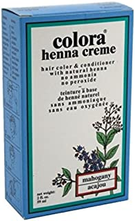 Sponsored Ad - Colora Henna Creme Hair Color Mahogany 2 Ounce (59ml) (2 Pack)