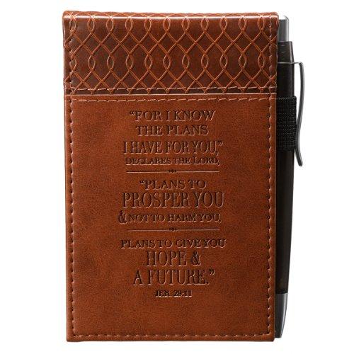 Jeremiah 29:11 Two-Tone Pocket Notepad w/Pen