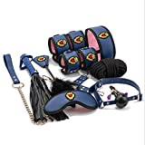 CSHClock 10PCS weiche Handcuf'fs Halsband verstellbar Ganzkörper Harness Romantik S-exy Uniform for...
