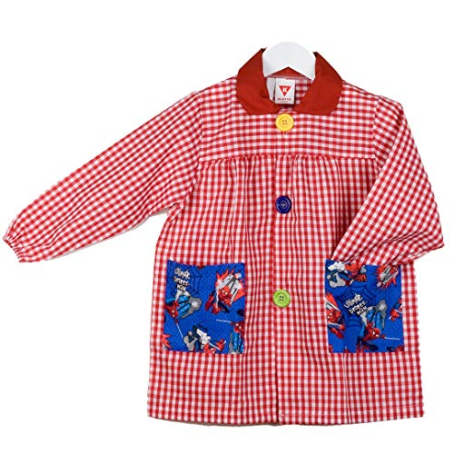 KLOTTZ - BABI SPIDERMAN MANDILON GUARDERIA Niñas color: ROJO talla: 5