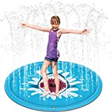 Splash Play Mat,Kids Water Sprinkle and Splash Pad Play Mat Toy Outdoor Perfect