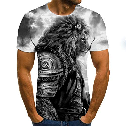 SSBZYES Camiseta para Hombre Camiseta De Verano De Manga Corta para Camiseta De Gran Tamaño para Hombre Camiseta De Manga Corta De Gran Tamaño para Hombre Top Camiseta con Estampado De León para
