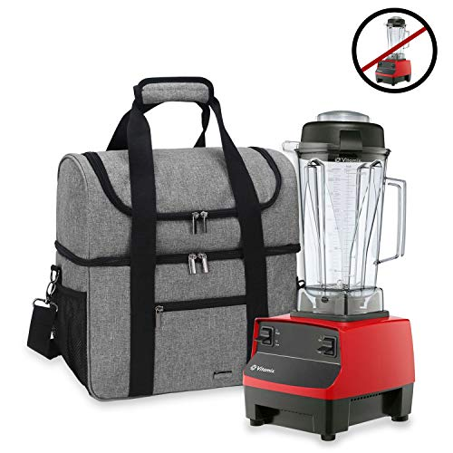 Luxja Carrying Case for 64 oz. Vitamix Blender, Travel Bag for Vitamix Blender and Accessories (Compatible with 64 oz. Vitamix Blender), Gray