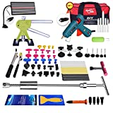 Fly5D 65 PCS Marteau Coulissant Kit, 2 en 1 Posse maillet, Debosselage Outillage Carrosserie Voiture Automobile Rayure Suppression Dent Reparation Auto