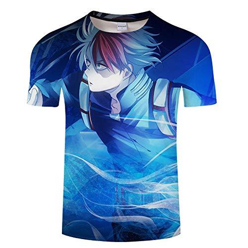 T-Shirts Hombres Cosplay Tops Impreso En 3D Fans De Los Cómics My Hero Academia Anime Manga Corta Camisetas Mezcla De Colores XXS