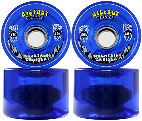 Bigfoot Longboard Wheels 80A Shr Mountain Cruisers, Black, 76mm
