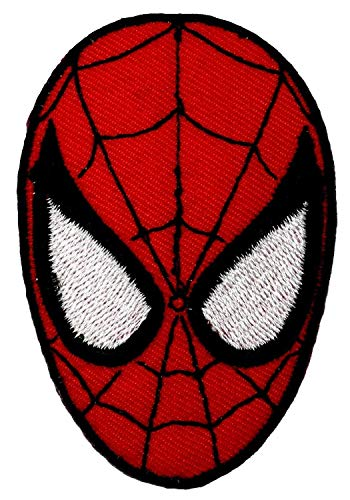 Spiderman máscara hierro en parche de Velcro