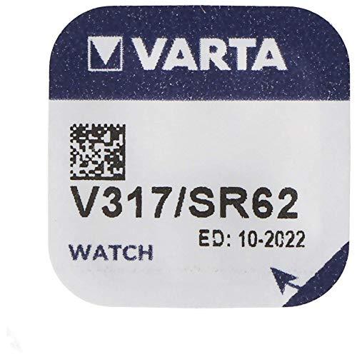 Varta V317 Household Battery Single-use Battery Siler-Oxid (S) 1,55 V - Batterien (Single-use Battery, Siler-Oxid (S), 1,55 V, 8 mAh, Silber, 5,8 mm)