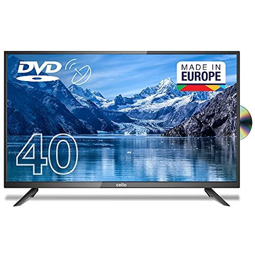 Cello C4020FDE 43' (100 cm Diagonale) Full HD LED TV mit integriertem DVD Player, Schwarz