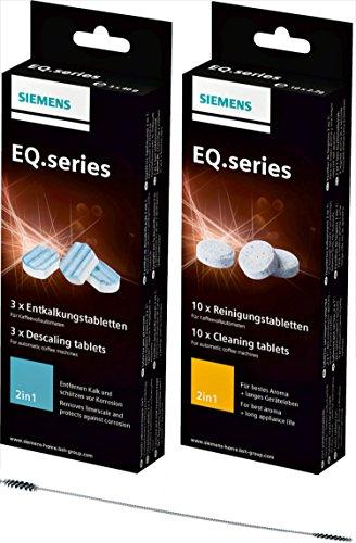 Siemens Reinigungsset: 1x Entkalkungstabletten 00311819 und 1x Reinigungstabletten 00311769
