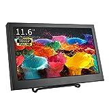 11.6 Pulgadas VGA Monitor portátil Full HD 1920 * 1080 IPS Pantalla con VGA/HDMI/Altavoz Incorporado/Entrada de Audio, Caja de Metal LCD/LED Pantalla para PS3 PS4 Xbox360 PC Raspberry Pi, Kenowa