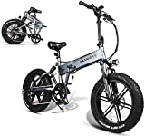 MQJ Ebikes Bicicleta Eléctrica de 20 Pulgadas Bici de Montaña Eléctrica de 20 Pulgadas Motor 48V 10Ah Batería de Litio, Velocidad Superior: 35Km / H, Duración de la Batería Eléctrica Pura 35-45Km