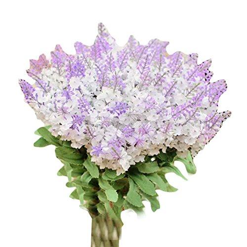 Bouquet de mariage en fleurs artificielles de lavande Décorations intérieures - Blanc