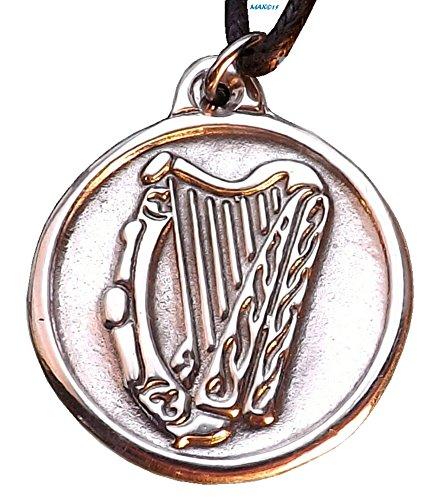 Celtic Harp - Pewter Pendant - Bard, Bardic, Irish, Scottish, Music Jewelry