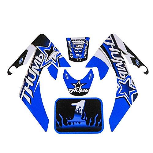 Hmparts Pit Bike / Dirt Bike Top Set de Pegatinas Thumb Azul Azul