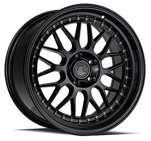 AodHan AH02 Wheel - Full Black (Gold Rivet): 18x9.5 Wheel Size; 5x114.3 Lug Pattern; 73.1mm Hug Bore; 30mm Off Set.
