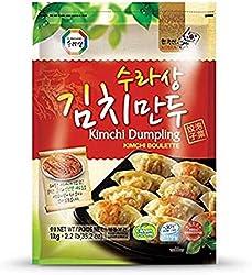 Surasang Korean Kimchi Dumpling, 1kg - Frozen