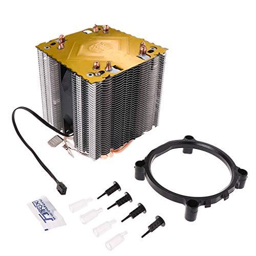 GREEN&RARE 4 disipadores de calor para CPU de 130 W, ventilador de 3 pines para Intel LGA1156 AM2 754