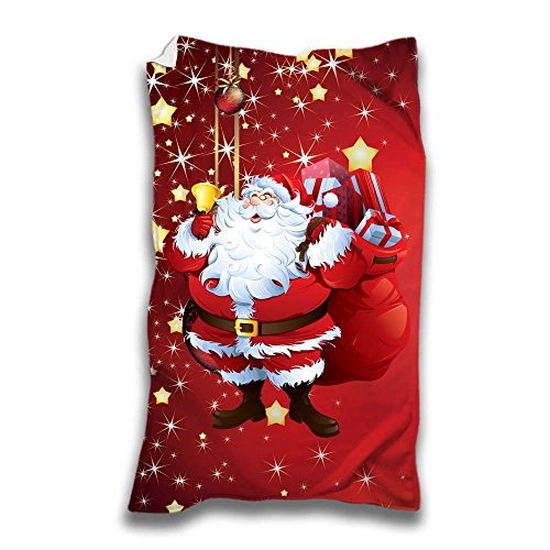 Plaid Natalizia Idea Regalo Natale Babbo Natale Felice 70x100 cm