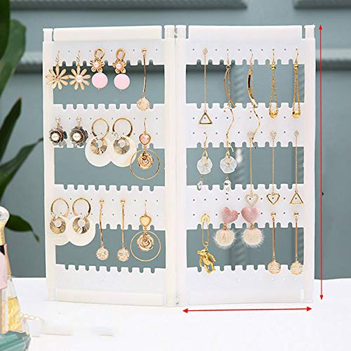 MUY New Plastics Earring Storage Doors Design Nice Jewelry Hanging Holder Rack Acrylics Jewelry Display Stand Earrings keepsake box Easter Gift for Women