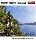 Oberitalienische Seen Postkartenkalender 2020. Wochenkalendarium. Blockkalender. Format 16 x 17,5 cm - Harenberg