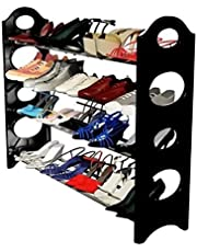Dewberries Shoe Rack Foldable with 4 Shelves