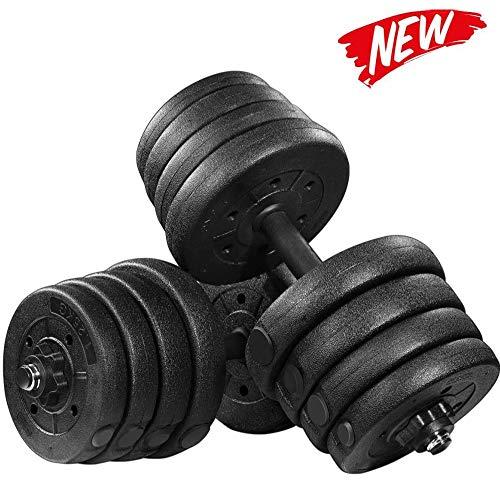 Multifunktional Hanteln Verstellbar Set, Rutschfest Kurzhanteln Langhantel, Für Muskelaufbau Gymnastik Mann Damen,20kg
