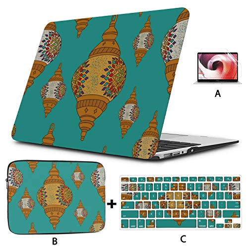 Mac Case Art Custom Chinese Festival Lantern 13 Inch Laptop Case Hard Shell Mac Air 11'/13' Pro 13'/15'/16' With Notebook Sleeve Bag For Macbook 2008-2020 Version