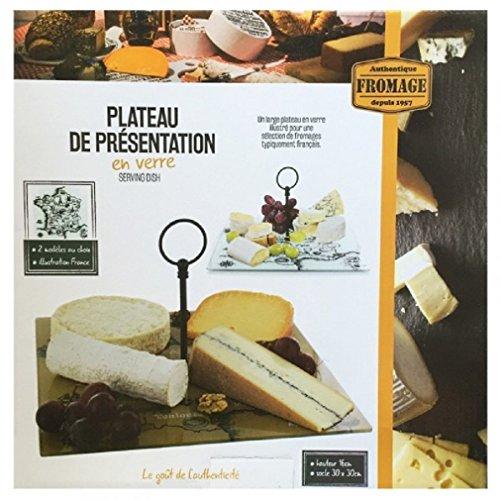 1 PLATEAU DE PRESENTATION EN VERRE FROMAGE 30 X 30 CM CUISINE