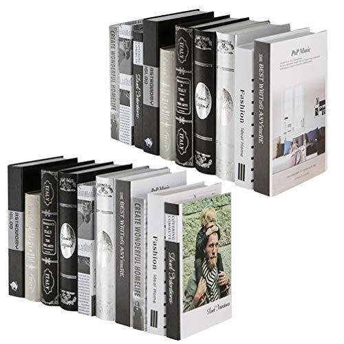 Angoily 2 Piezas de Decoración de Libros Falsos Modernos Libros Falsos Estantería de Libros Falsos Pila de Modelos de Libros Falsos Accesorios de Fotos Adornos para Estantería Biblioteca