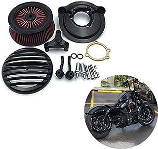 Colore : Nero Moto Filtro Aria Filtro Sistema Interno Elemento Nero Fit for Harley Sportster XL 883 1200 Dyna Softail Fat Boy Touring Road King