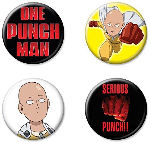 Ata-Boy One Punch Man Assortment #1 Set of 4 1.25